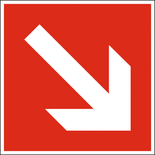 arrow down downward