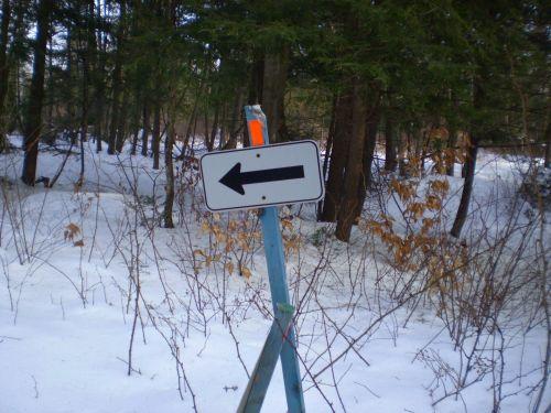 Arrow On Signboard