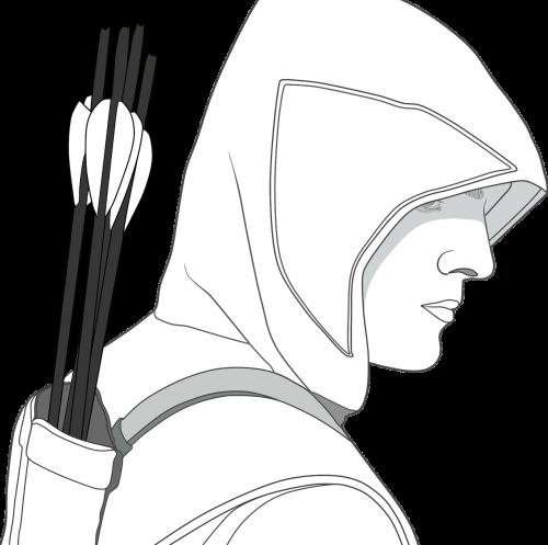 arrows hooded male