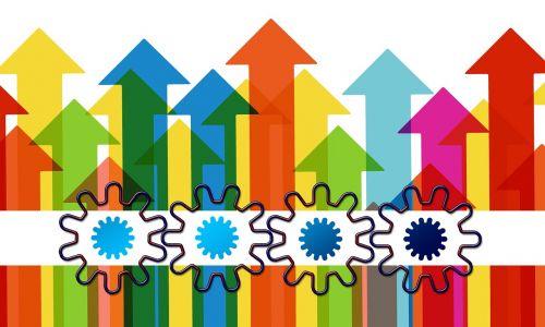 arrows growth hacking gears