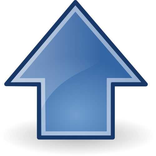 arrows blue up
