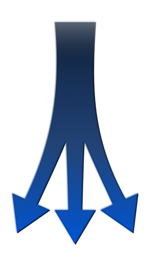 arrows junction fork