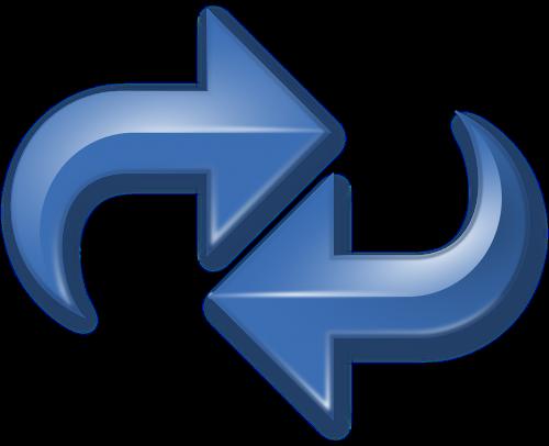 arrows blue double