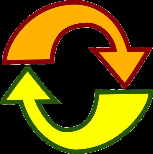 arrows reload yellow