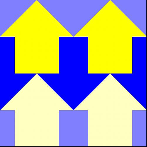 arrows pattern rows