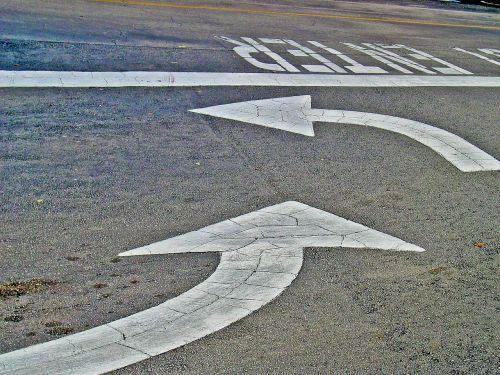arrows road street