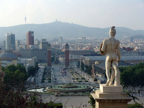 art,architecture,sculpture,barcelona,skyline