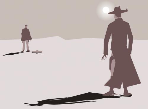 art cartoon cowboy
