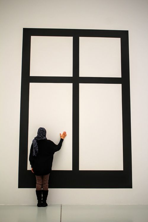 art museum window