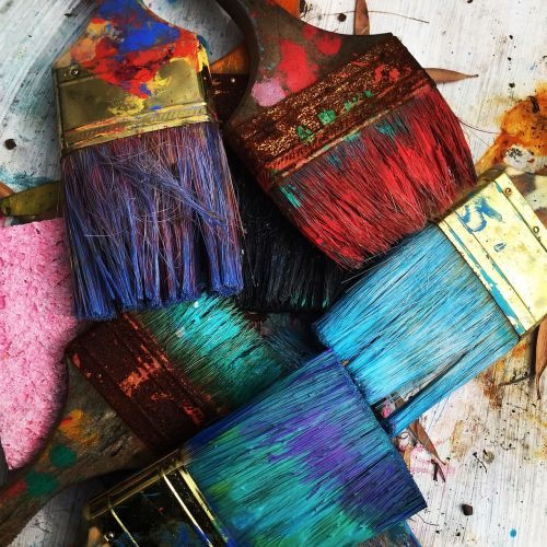 art brushes colorful