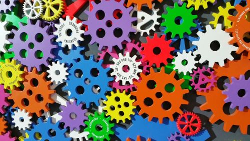 art cogs colorful