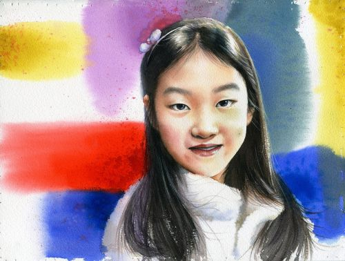 art watercolor portrait watercolor