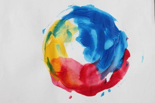 art primary colors paint
