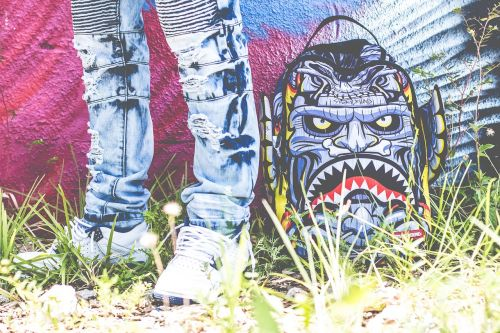art graffiti shoes