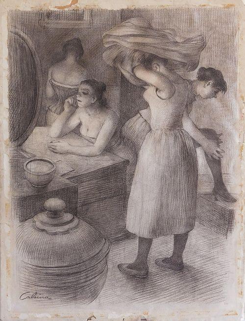 art drawing scene in grup