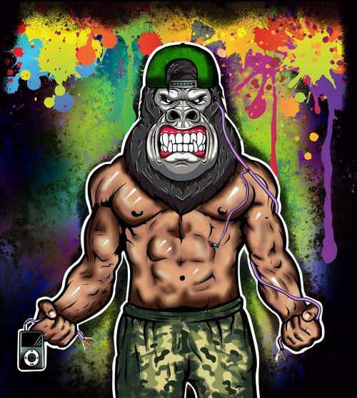 art gorilla graffiti