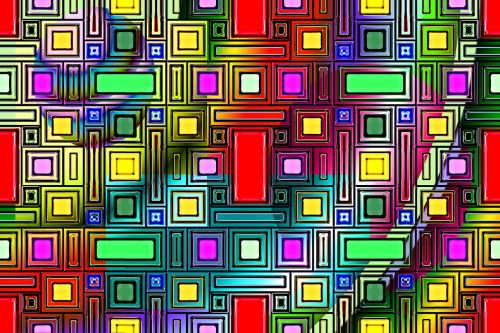 art rectangles abstract