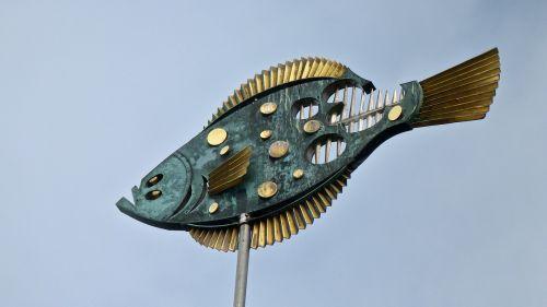 art fish weathervane