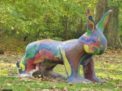 art statue colorful