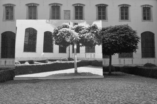 menas,pastatas,architektūra,angel vergara,nekark medis,medis,kiemas,montavimas,perspektyva,juoda balta