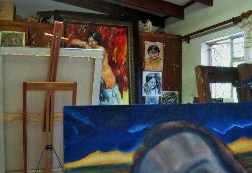 Art Class In Progress