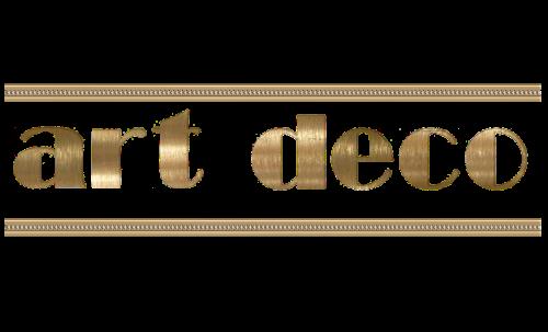 art deco calligraphy writing