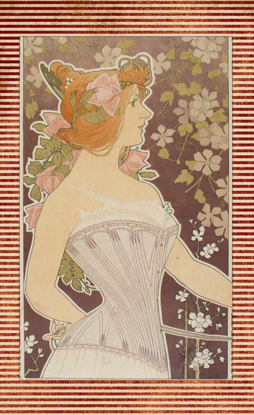 Art Deco Poster Vintage Woman