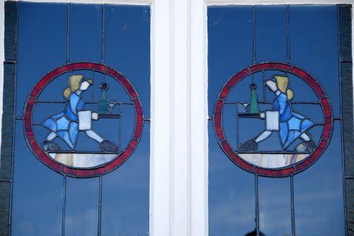 art nouveau window swakopmund