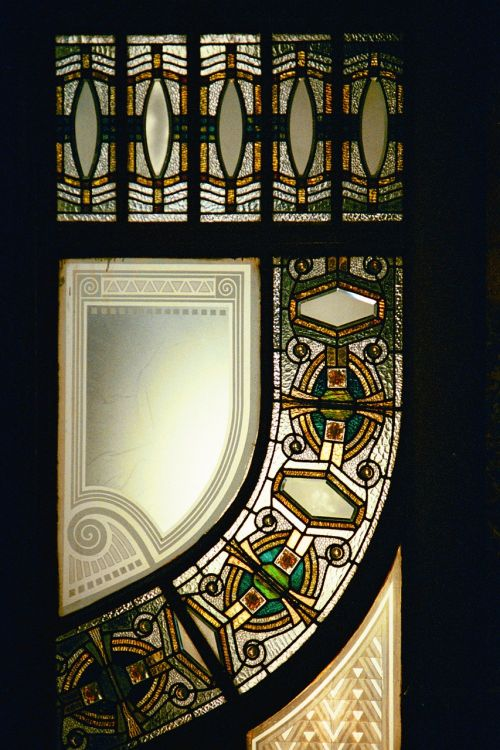 art nouveau window architecture