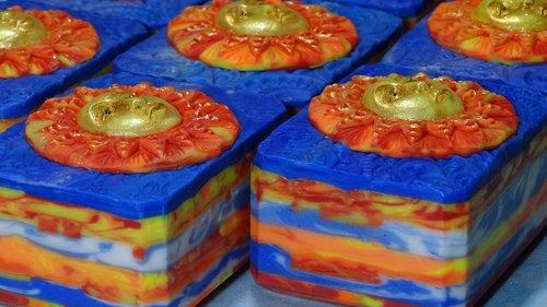 art soap  hand made  sun