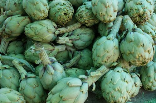 artichokes vegetables market