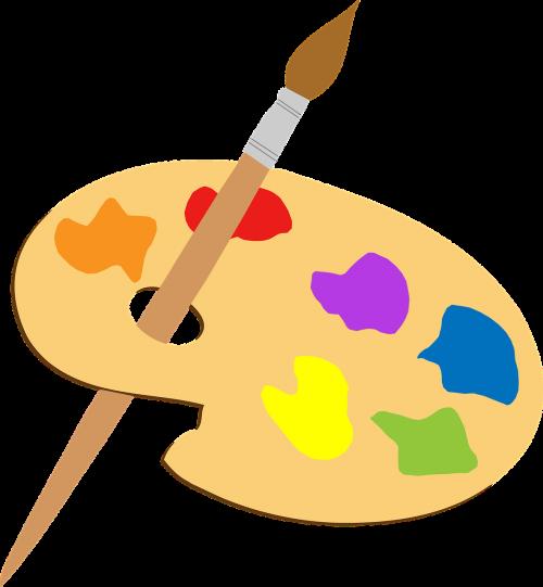 artist colorful paint brush