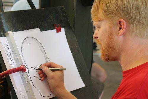 artist caricature street artist