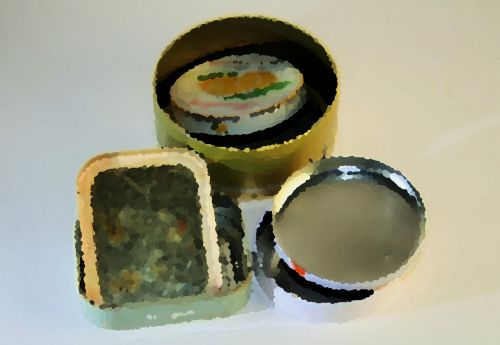 Artistic Image Of Tins