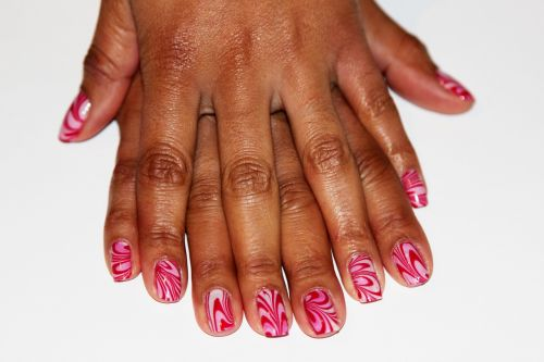 artistic nails fashion natural background