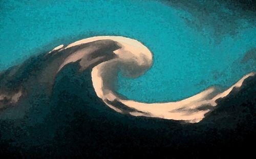 Artistic Wave Crest
