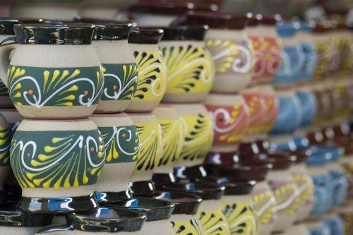 arts and crafts ceramic cups