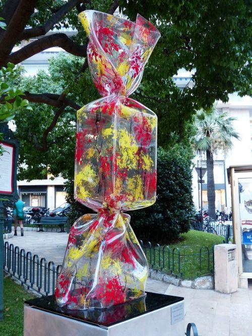artwork plastic candy