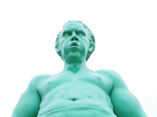 artwork person green