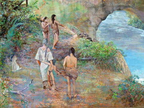 artwork painting bridge pier