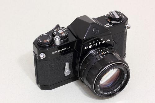 Asahi,Pentax,optinis,Japonija,slr,35mm,kino kamera,takumar,objektyvas,refleksas,kūnas,nuotrauka,įranga,fotoaparatas,fotografija,spotmatic,juoda,analoginė kamera