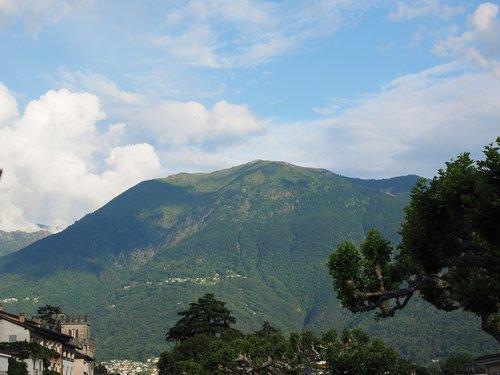 ascona  view  mountain
