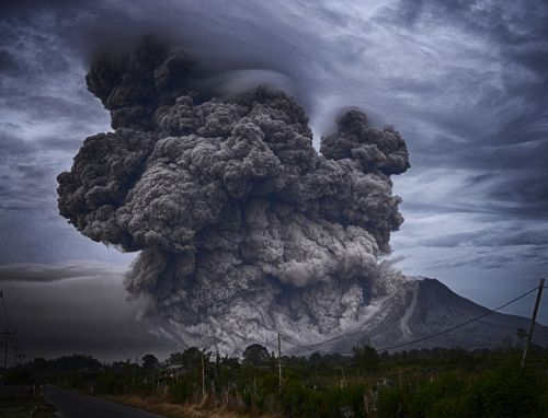 ashes eruption landscape