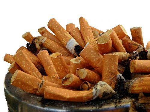 ashtray tilt cigarette butts