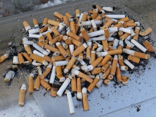 ashtray cigarette end smoking
