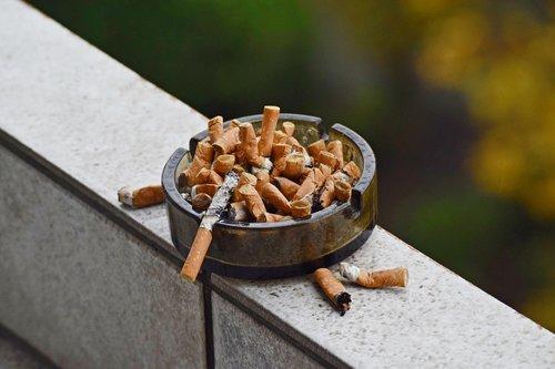 ashtray  cigarettes  smoke