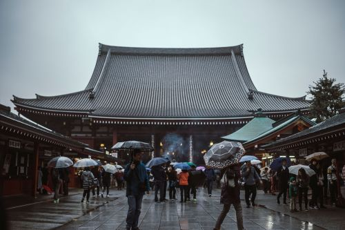 asian,people,women,girls,japanese,lantern,travel,trip,handbag,street,temple,umbrella