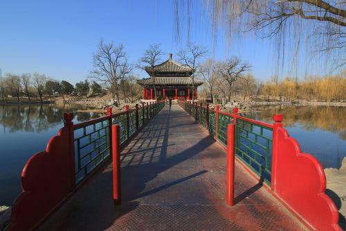 asian architektūra, senas vasaros rūmai, galerija, senovės architektūra, tiltas