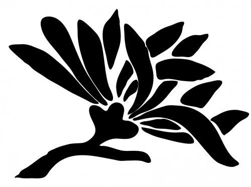 Asian Flower Silhouette