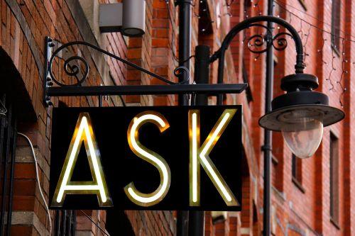 ask sign design